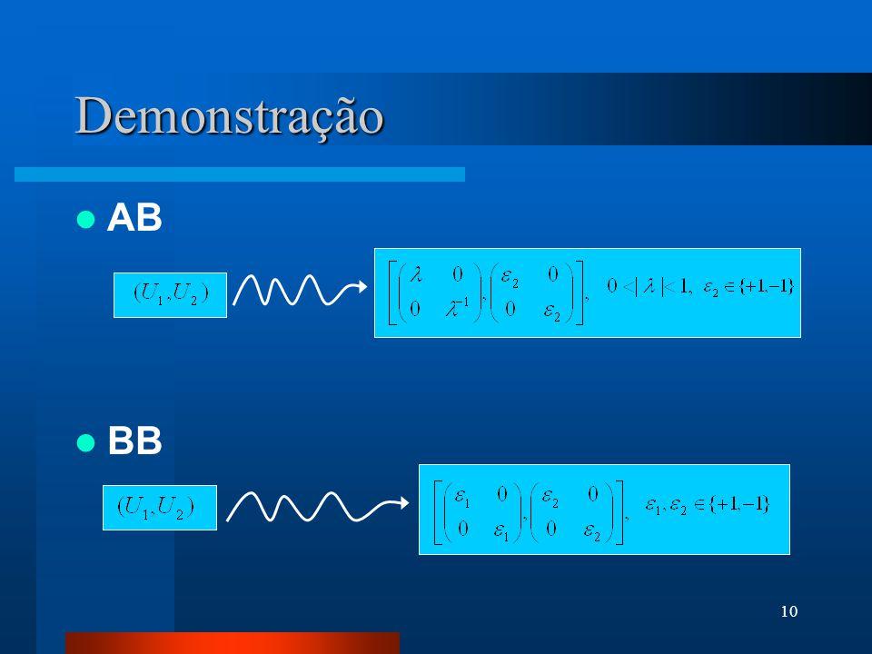 Demonstração AB BB