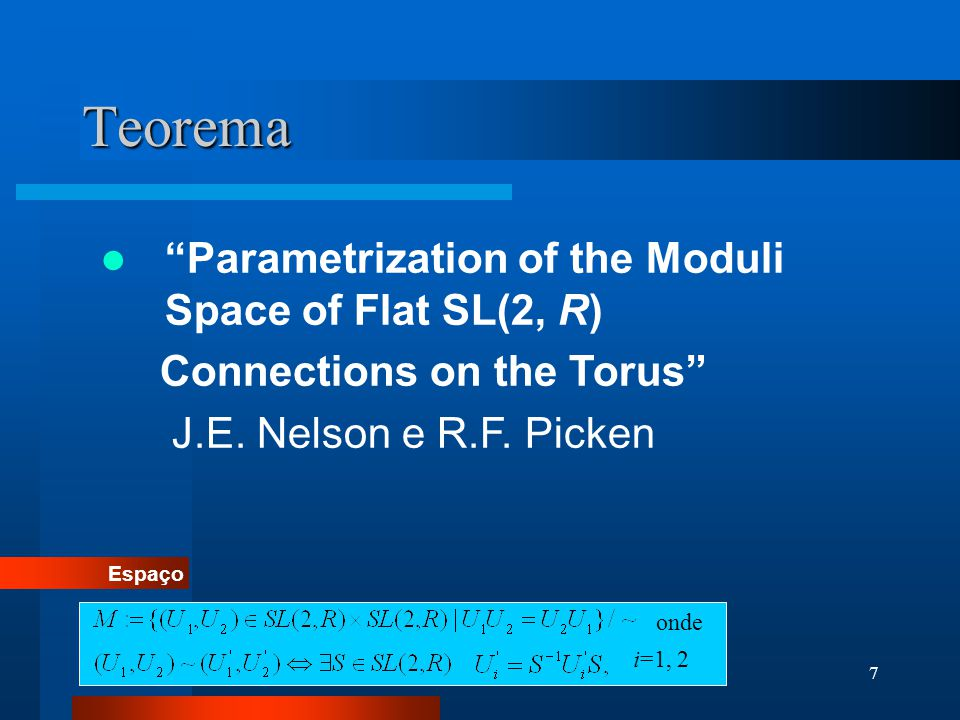 Teorema Parametrization of the Moduli Space of Flat SL(2, R)