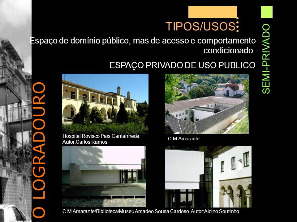 O LOGRADOURO TIPOS/USOS SEMI-PRIVADO