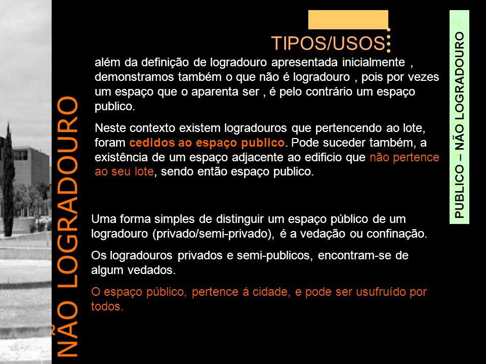 NÃO LOGRADOURO TIPOS/USOS