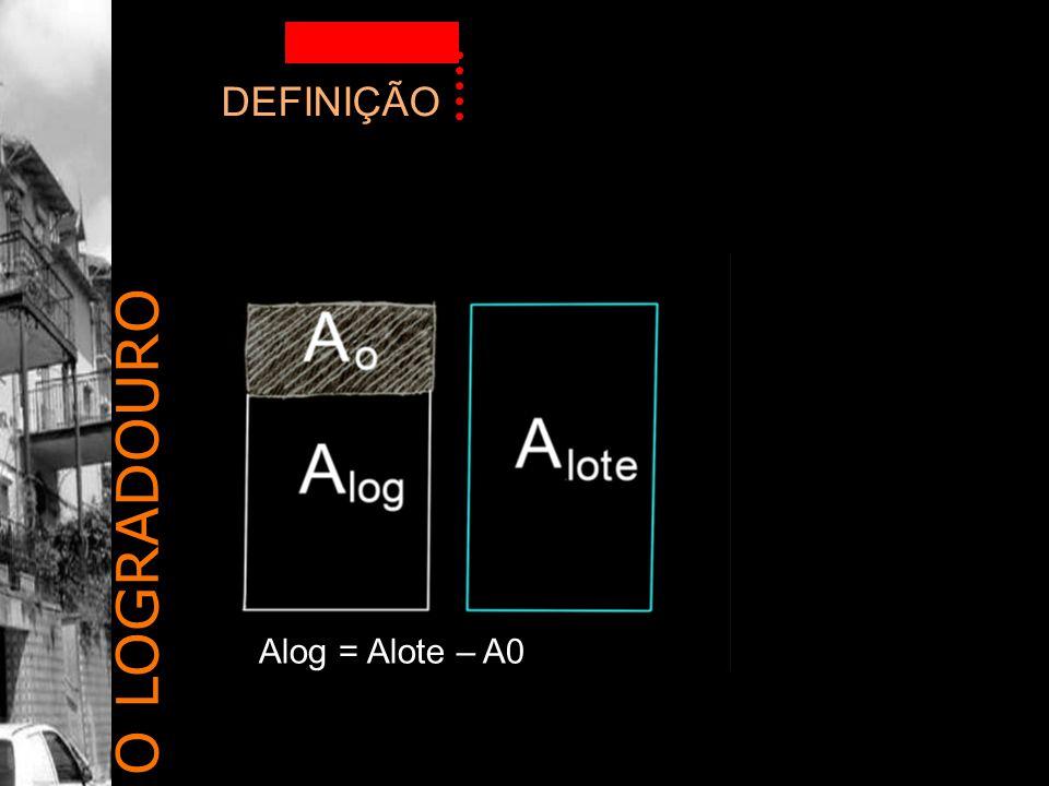 DEFINIÇÃO O LOGRADOURO Alog = Alote – A0