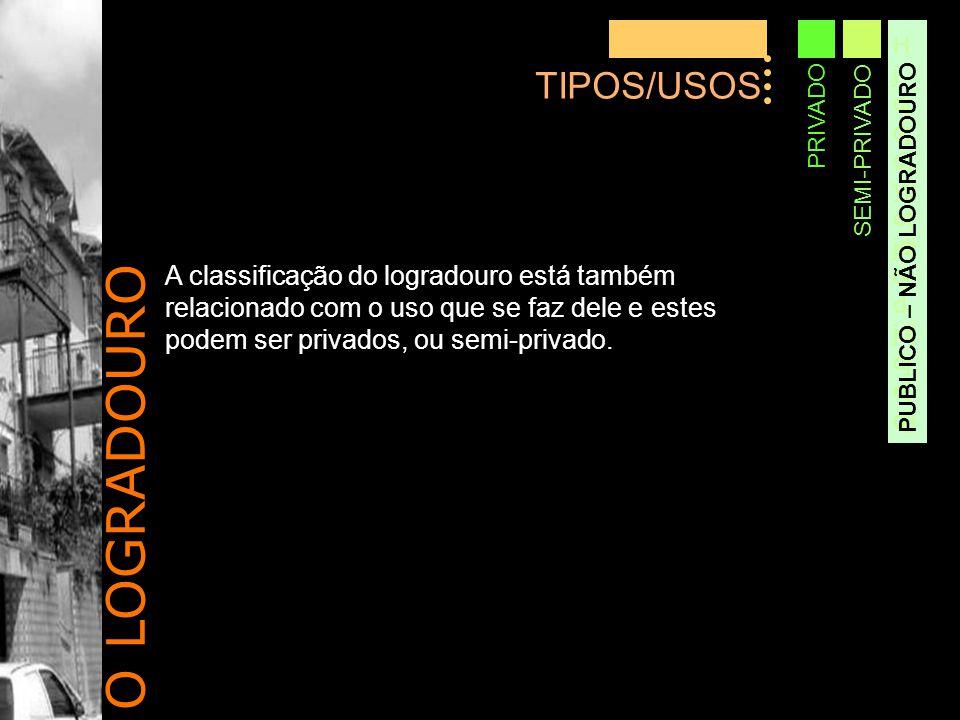 O LOGRADOURO TIPOS/USOS