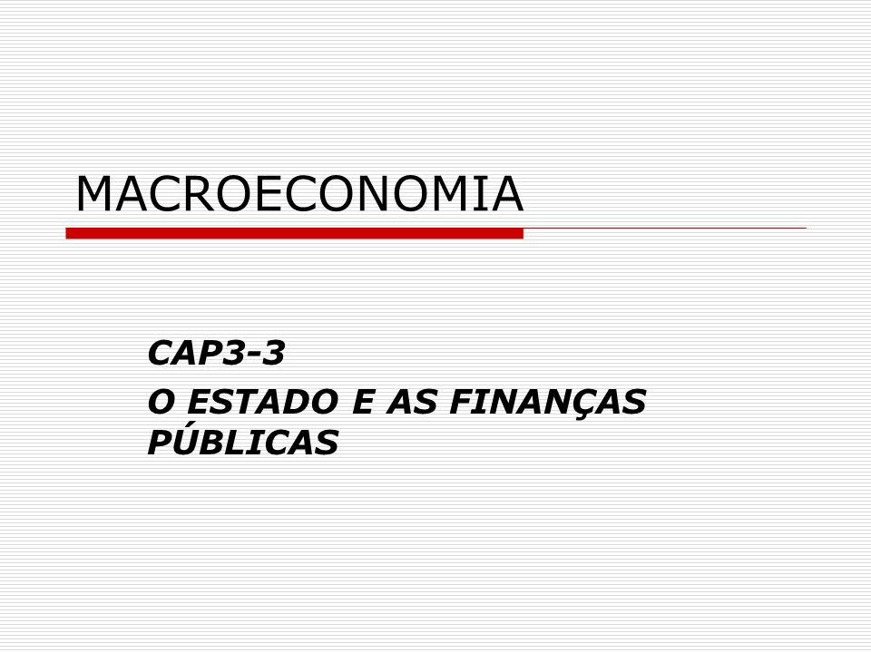CAP3-3 O ESTADO E AS FINANÇAS PÚBLICAS