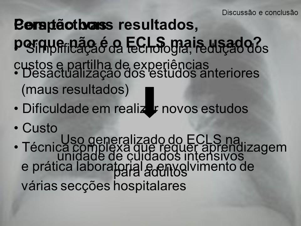 Com tão bons resultados, porque não é o ECLS mais usado