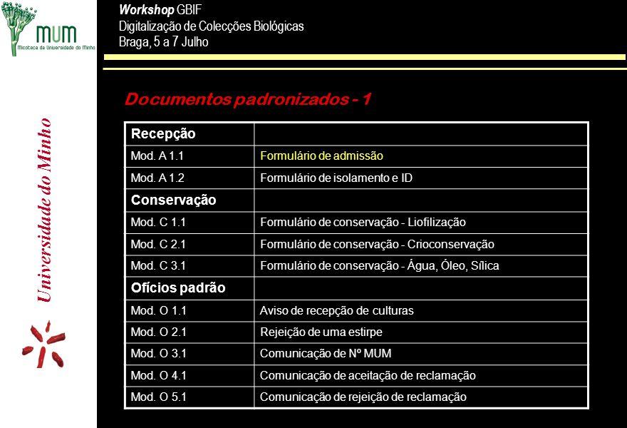Documentos padronizados - 1