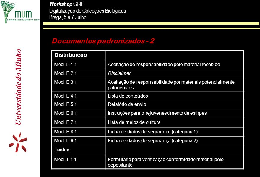 Documentos padronizados - 2