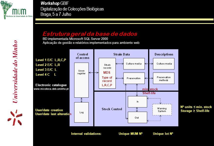 Estrutura geral da base de dados