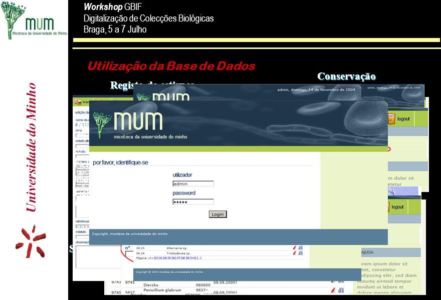 Utilização da Base de Dados