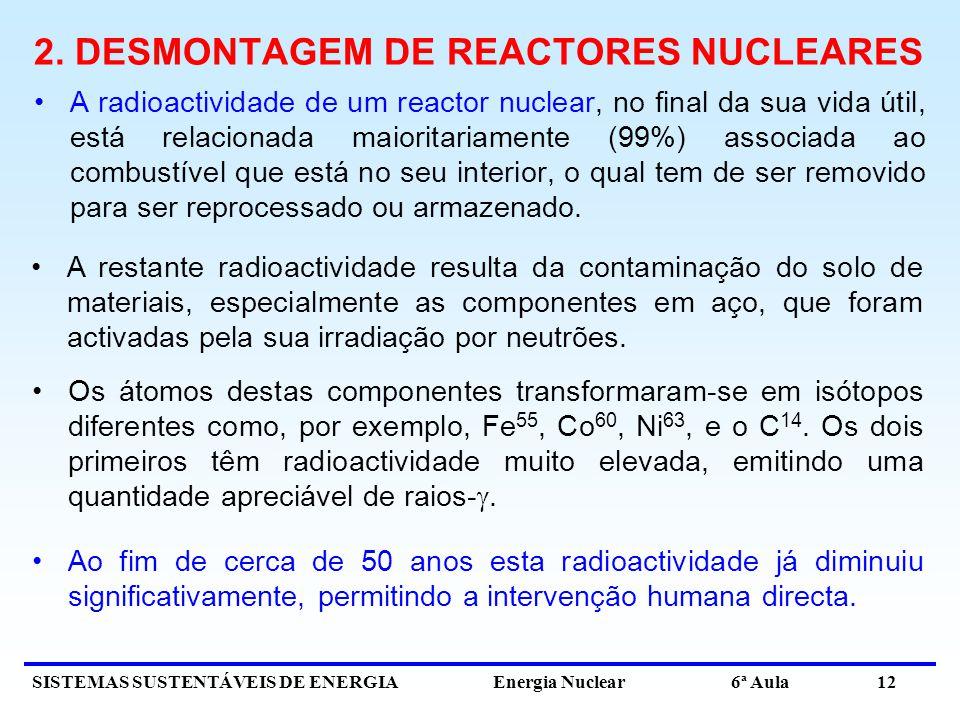 2. DESMONTAGEM DE REACTORES NUCLEARES