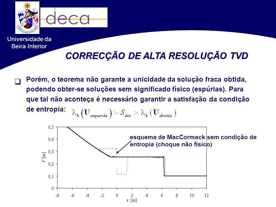 CORRECÇÃO DE ALTA RESOLUÇÃO TVD