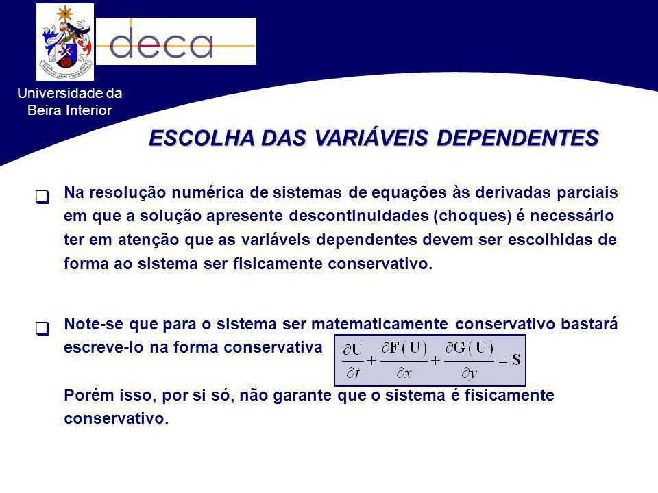 ESCOLHA DAS VARIÁVEIS DEPENDENTES