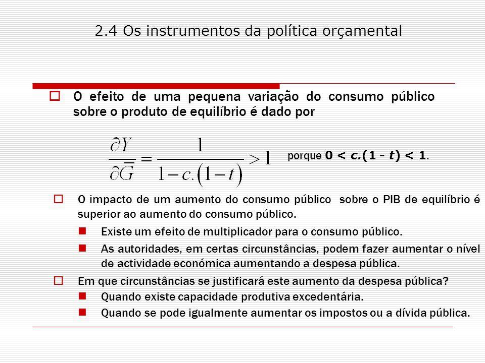 2.4 Os instrumentos da política orçamental