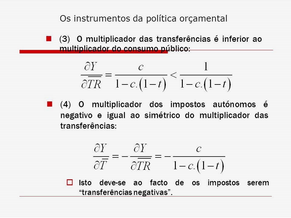 Os instrumentos da política orçamental