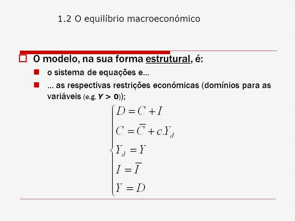 O modelo, na sua forma estrutural, é: