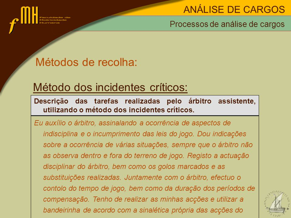 Método dos incidentes críticos: