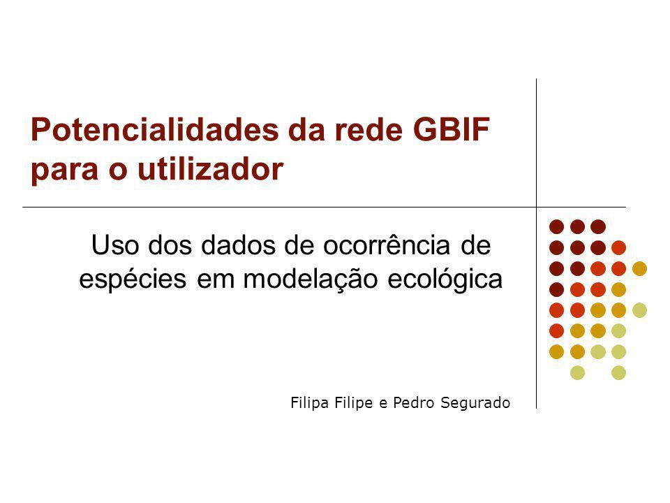 Potencialidades da rede GBIF para o utilizador