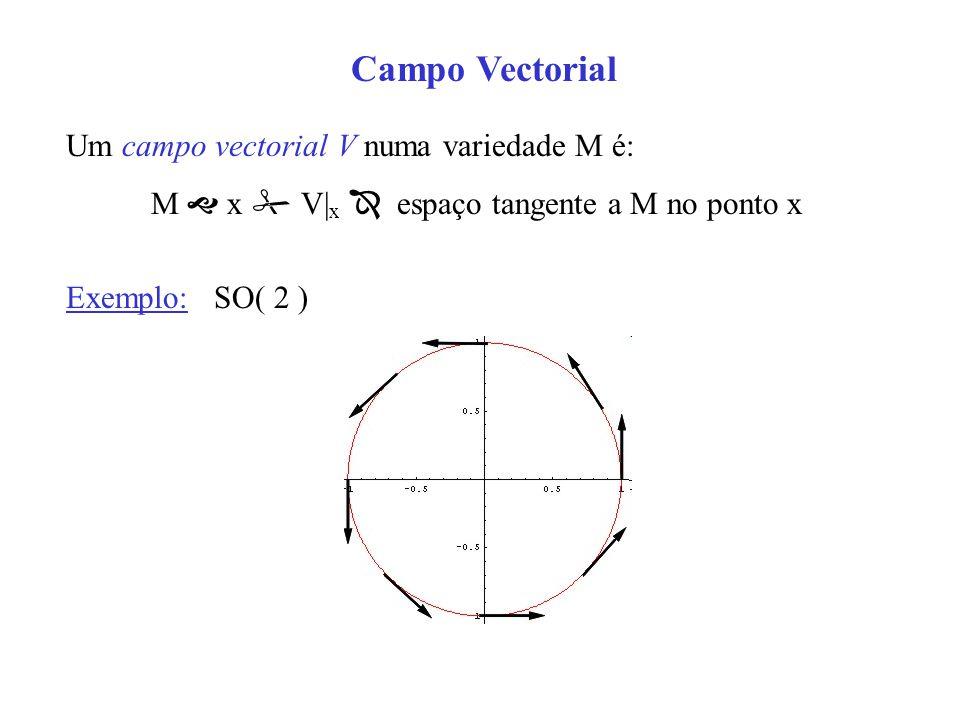M  x  V|x  espaço tangente a M no ponto x