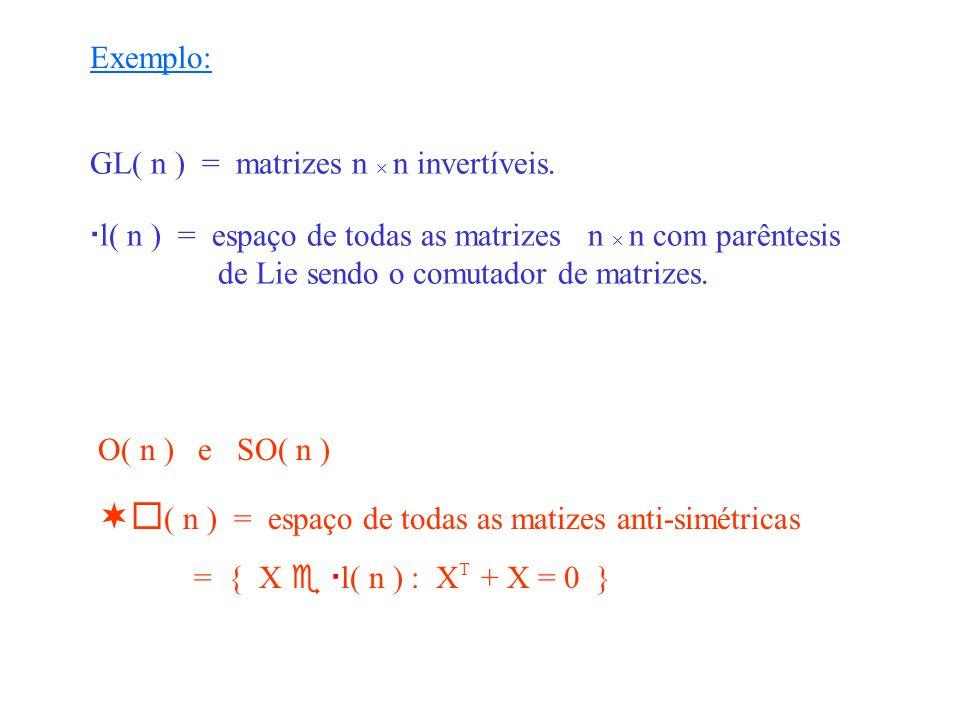( n ) = espaço de todas as matizes anti-simétricas