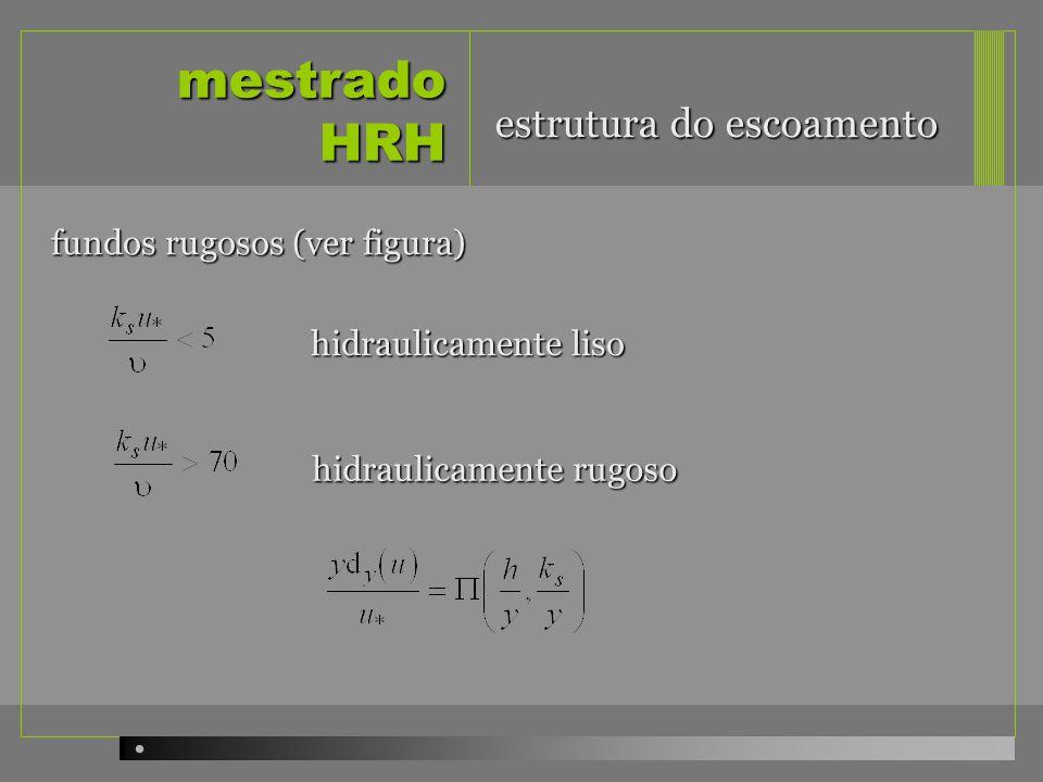 mestrado HRH estrutura do escoamento fundos rugosos (ver figura)