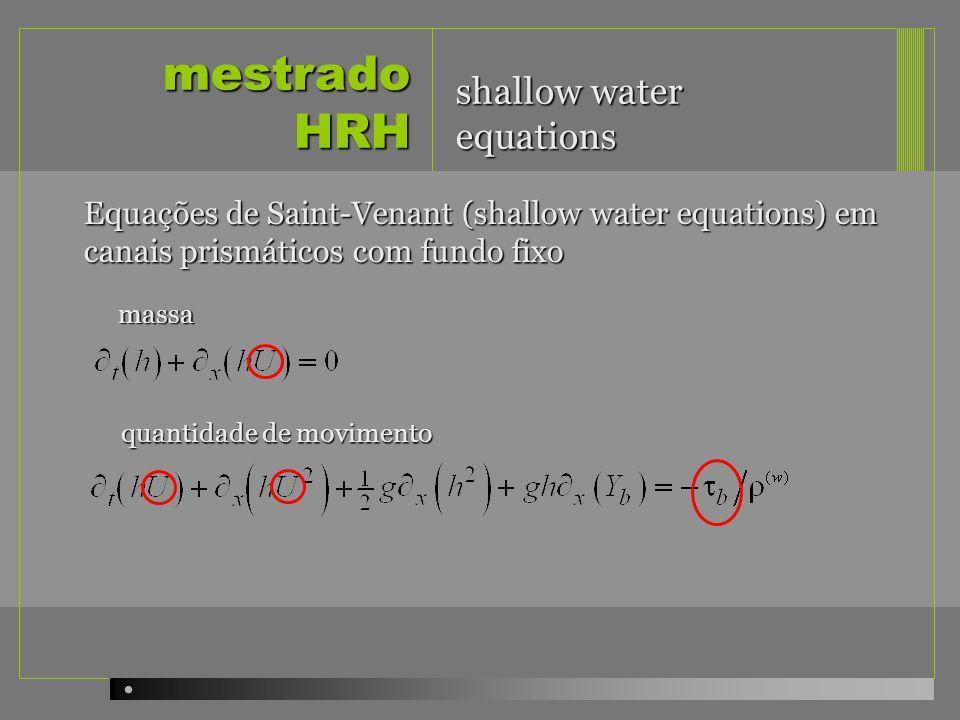 mestrado HRH shallow water equations