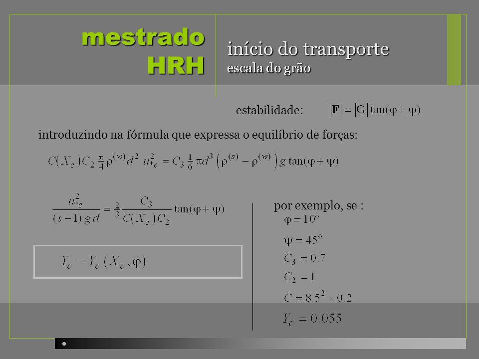 mestrado HRH início do transporte escala do grão estabilidade: