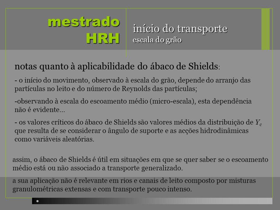 mestrado HRH início do transporte escala do grão