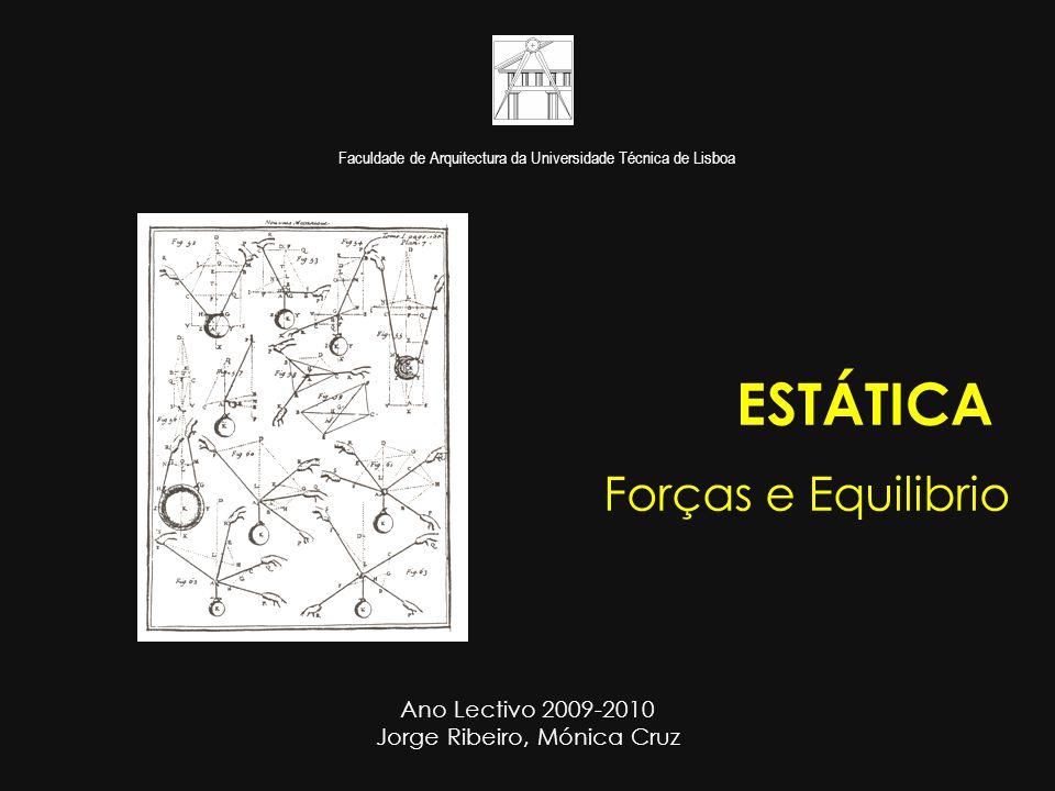 ESTÁTICA Forças e Equilibrio Ano Lectivo 2009-2010