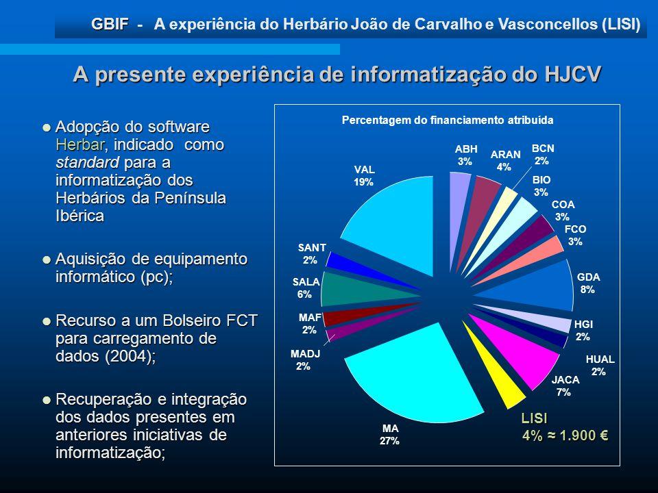 A presente experiência de informatização do HJCV