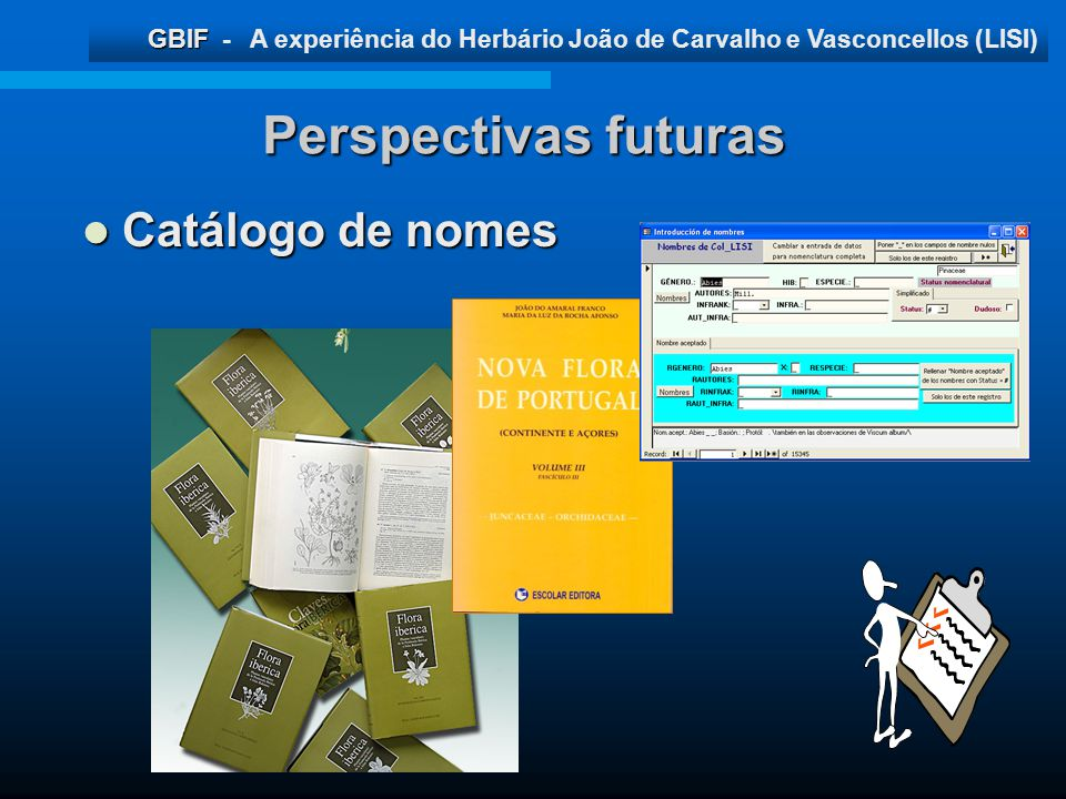 Perspectivas futuras Catálogo de nomes