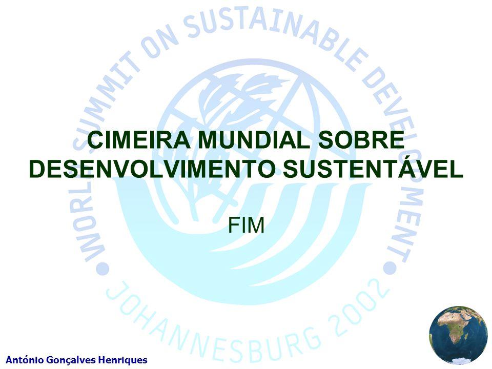 CIMEIRA MUNDIAL SOBRE DESENVOLVIMENTO SUSTENTÁVEL