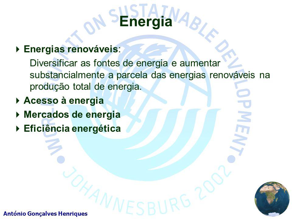Energia Energias renováveis: