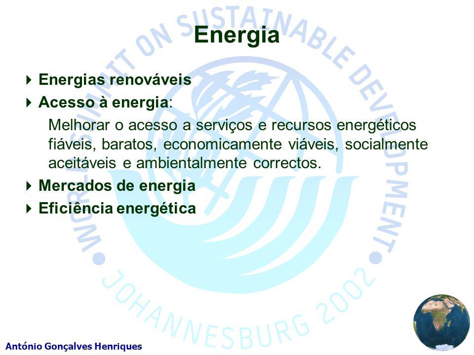 Energia Energias renováveis Acesso à energia: