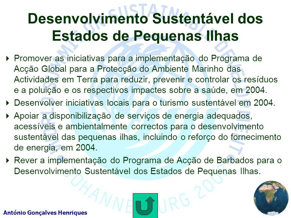 Desenvolvimento Sustentável dos Estados de Pequenas Ilhas