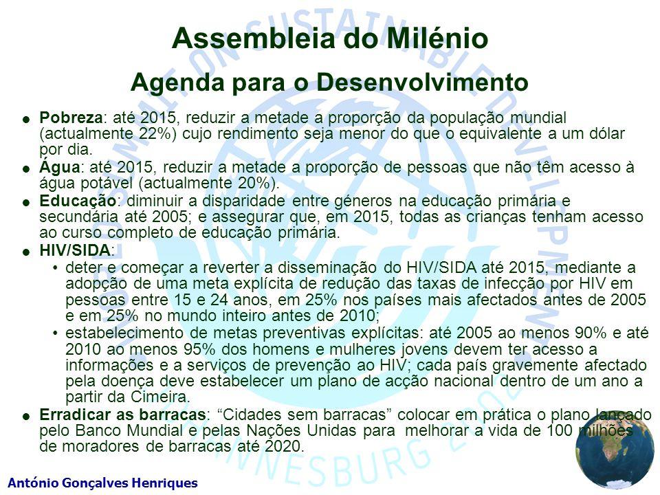Assembleia do Milénio Agenda para o Desenvolvimento