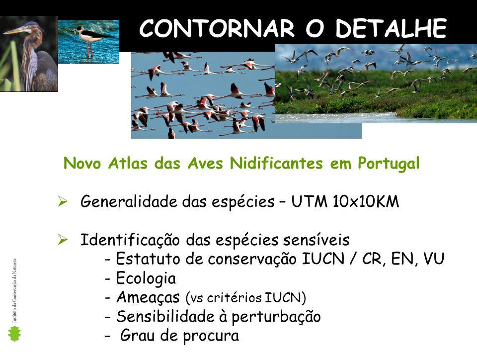 CONTORNAR O DETALHE Novo Atlas das Aves Nidificantes em Portugal