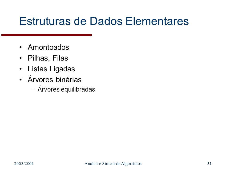 Estruturas de Dados Elementares