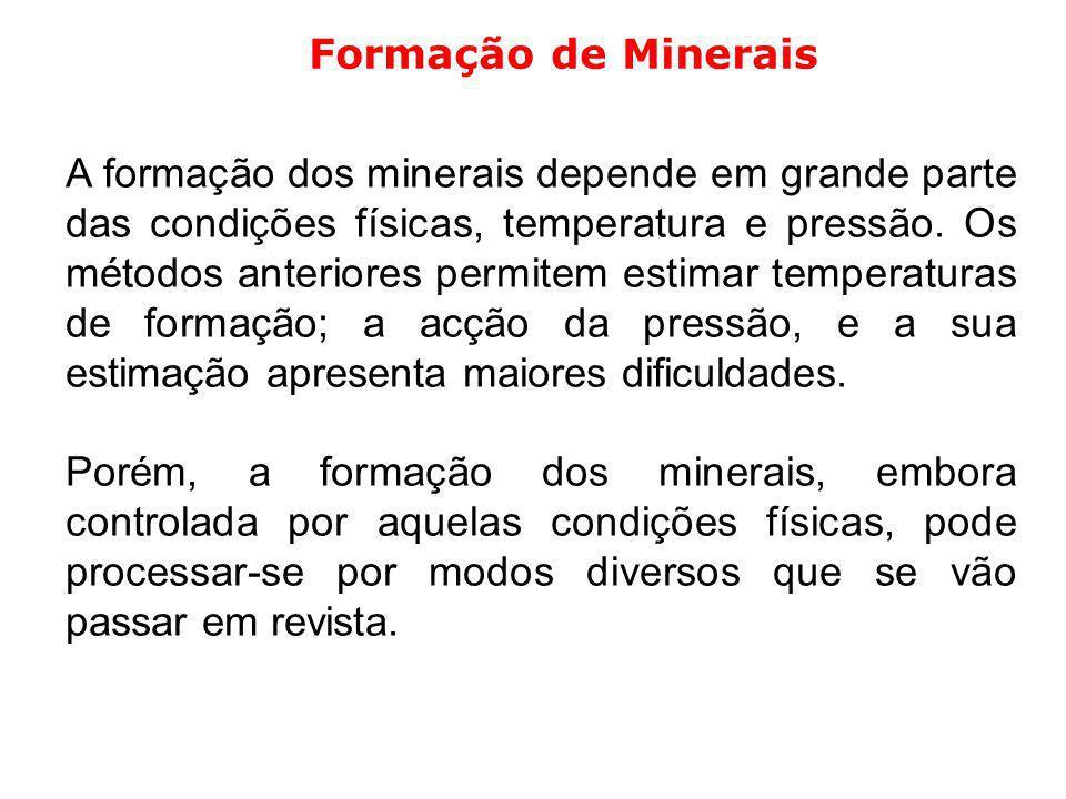 Formação de Minerais