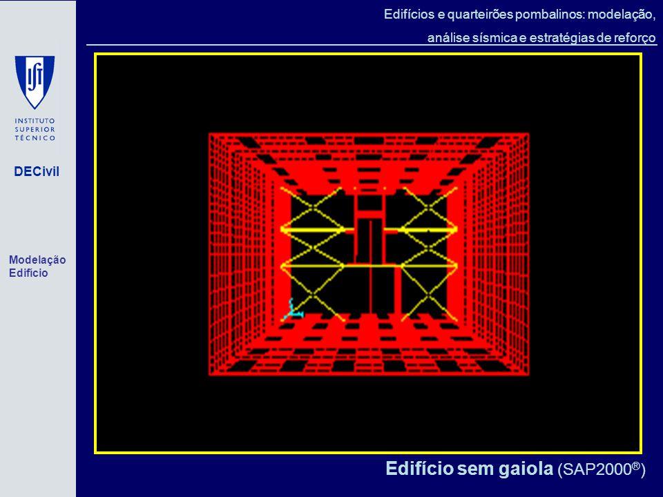 Edifício sem gaiola (SAP2000®)