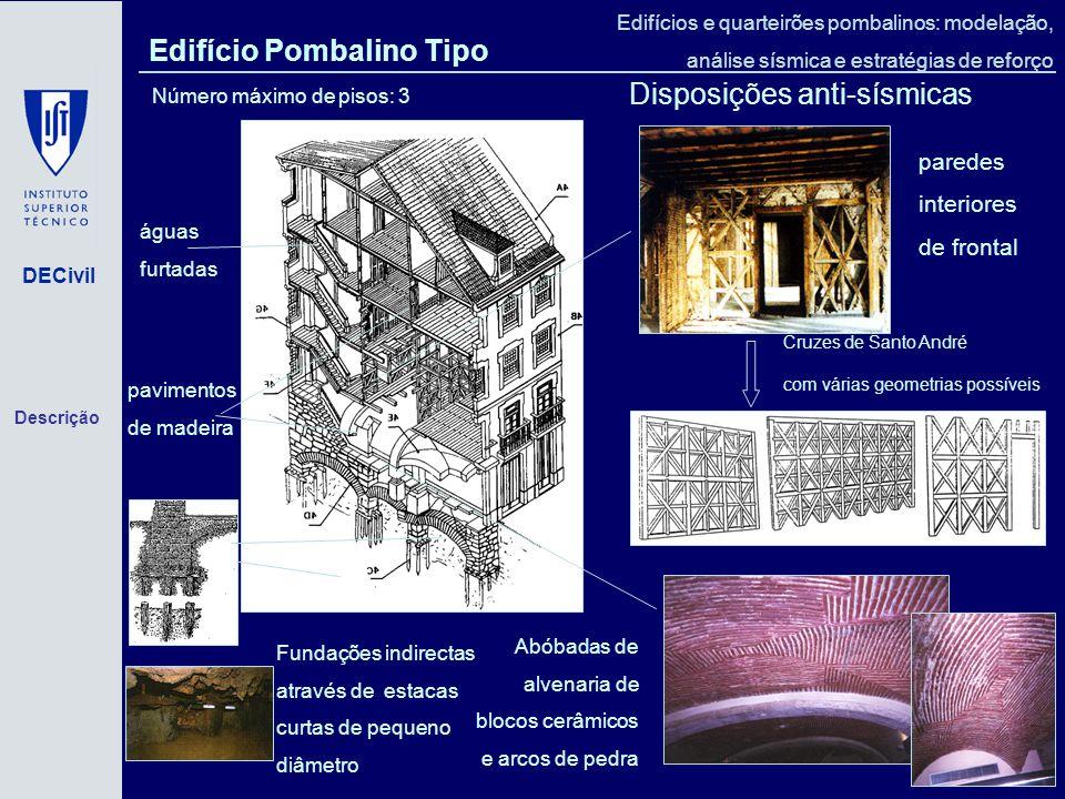 Edifício Pombalino Tipo Disposições anti-sísmicas
