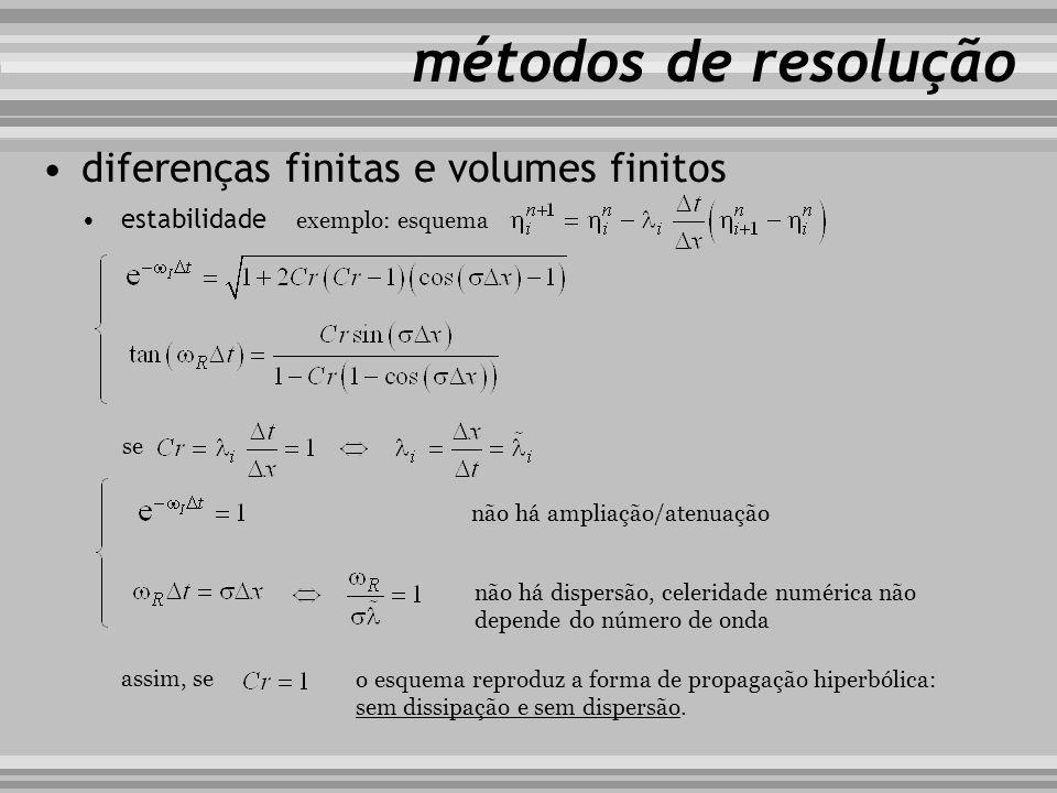 métodos de resolução diferenças finitas e volumes finitos estabilidade