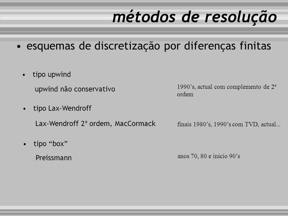 métodos de resolução esquemas de discretização por diferenças finitas