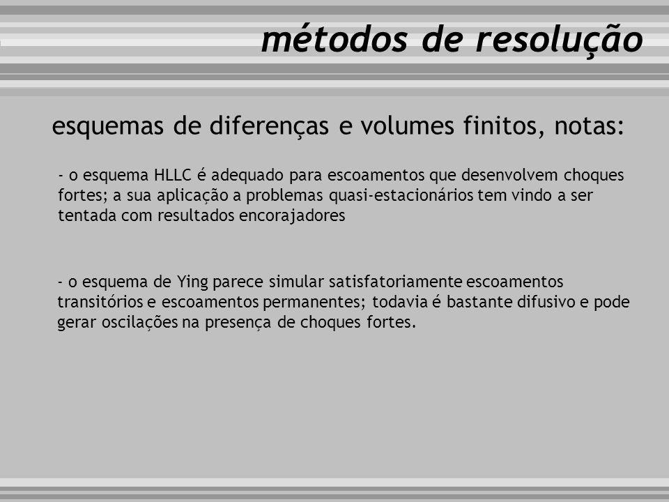 métodos de resolução esquemas de diferenças e volumes finitos, notas: