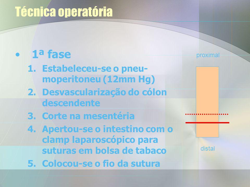 Técnica operatória 1ª fase