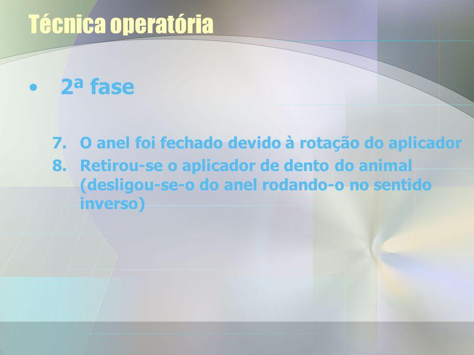 Técnica operatória 2ª fase