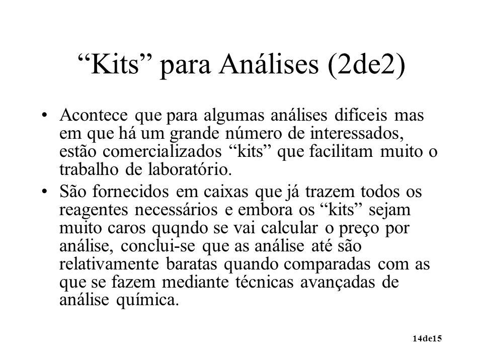 Kits para Análises (2de2)