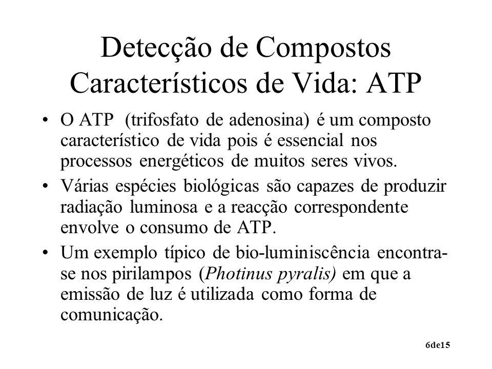 Detecção de Compostos Característicos de Vida: ATP