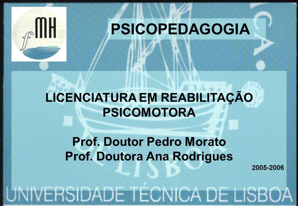 PSICOPEDAGOGIA LICENCIATURA EM REABILITAÇÃO PSICOMOTORA