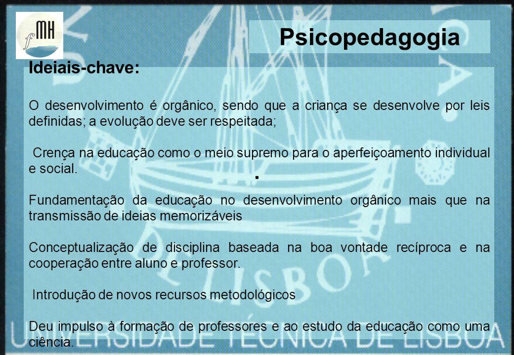 Psicopedagogia Ideiais-chave: