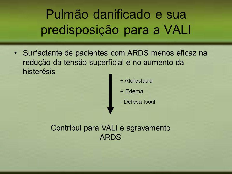 Pulmão danificado e sua predisposição para a VALI