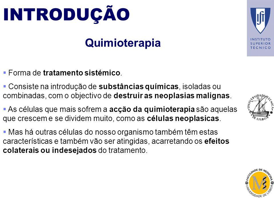 INTRODUÇÃO Quimioterapia Forma de tratamento sistémico.